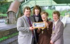 Presentaion of Tourism award at Okehampton station.