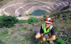 Daniel Skinner at Delabole quarry. 16/06/99.