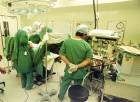 Kidney transplant operation.
