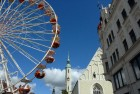 A funfair in the town square at Goerlitz in Eastern Germany.