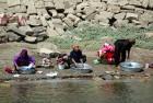 Washing day along the Nile.