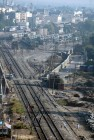 The railway yards in Luxor, Egypt.