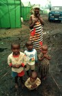 Orphaned children and their nurse in an isolation hospital in Rwanda.