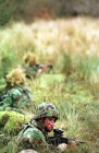 Soldiers of the Devon and Dorset regiment in traing at Sennybridge prior to posting to Bosnia.