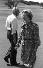 Margaret Thatcher and Denis at Constantine golf club, Cornwall.