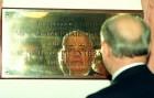 Mikhail Gorbachev opens the new CLIC centre in Bristol.