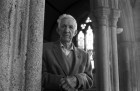 Sam Philp had been ringing the bells at Linkinhorne Parish Church for 76 years when this picture was taken. 12/5/92. Ref 165/65.
