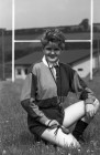 Sue Greenaway of Bodmin hopes to be the first female rugby referee in Cornwall. 1/7/92. Ref 165/66.