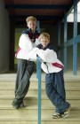 Matthew and John Hemsley from Ermington are to play badminton for England. 14/5/93. Ref G166/32.