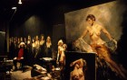 Artist Robert Lenkiewicz in his studio. 28/4/90. Ref 163/56.