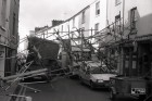 The day the scaffolding collapsed in Brook Street, Tavistock. 24/10/89. Ref163/16.