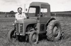 David Hicks with his 1949 Fergie at the West of England Ploughing match at Retyn farm, Newquay. 6/10/89. Ref 163/17.