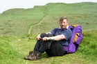 Barry Sykes from Bude walked across Scotland in aid of Cancer Research. 12/5/93. Ref 166/32.