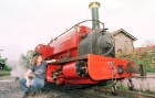 Kay Bowman, engine driver at the Launceston steaam railway.