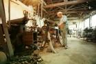 Nigel Bowman at work at the Launceston steam railway.