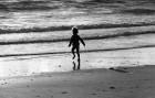 The last explorer on Summerleaze beach at Bude.