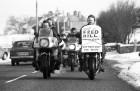 Motorcyclists annual ride in rememberance of Fred Hill around Princetown.