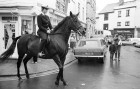 WPC Gill Steer. Mounted police officer in Launceston.