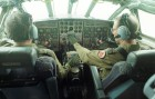 The flight deck of a Royal Air Force Hercules.