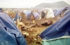Refugee camp near Goma in Zaire.